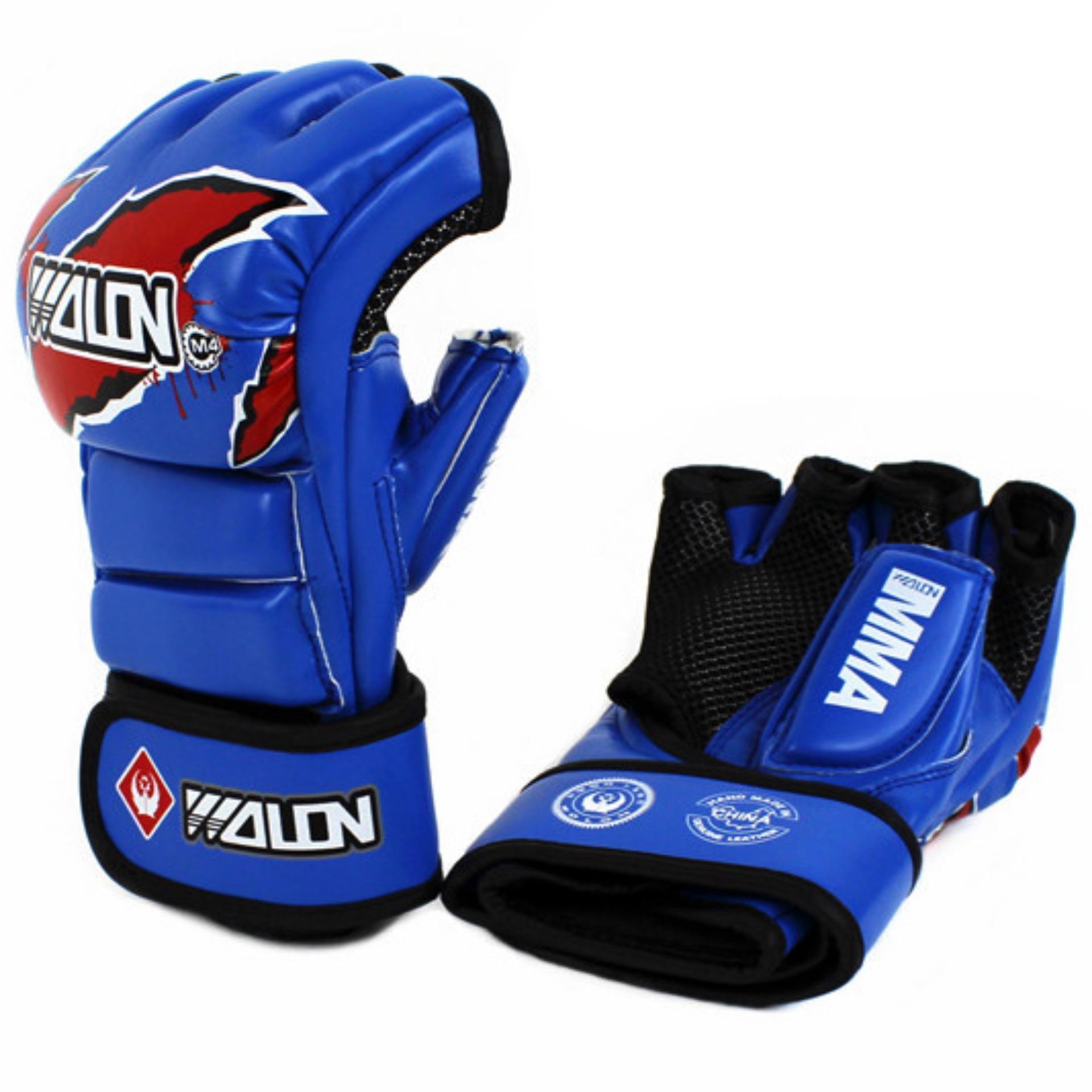 Găng Tay MMA Wolon Fighter Gloves (Xanh)