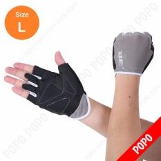 Găng tay tập GYM, mềm mai ôm cổ tay (GREY-L) găng tay nâng tạ, găng tay xe đạp độ bám cao, thoáng khí, thoát mồ hôi, mềm mại POPO Sports