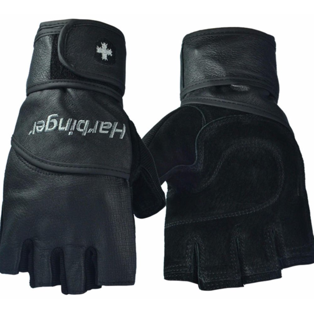 Găng tay tập gym trợ lực cổ tay Harbinger Pro size L