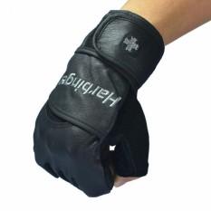 Găng tay tập gym trợ lực cổ tay Harbinger Pro size M