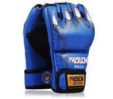Găng tay thể thao hở ngón Wolon MMA 2 (Xanh)