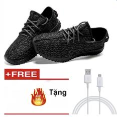 Giày Sneaker Thể Thao Nữ GL – A03 (Màu Đen) +Tặng cáp sạc nhanh đầu Samsung
