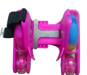 Giày trượt patin 4 bánh phát sáng- Flashing Roller (Hồng)