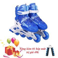 Giày Trượt Patin Đinh Tán Phát Sáng Bánh Size L - Tặng Kèm Bóp Mút