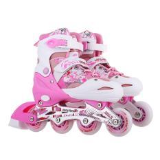 Giầy trượt patin longfeng 906 màu hồng