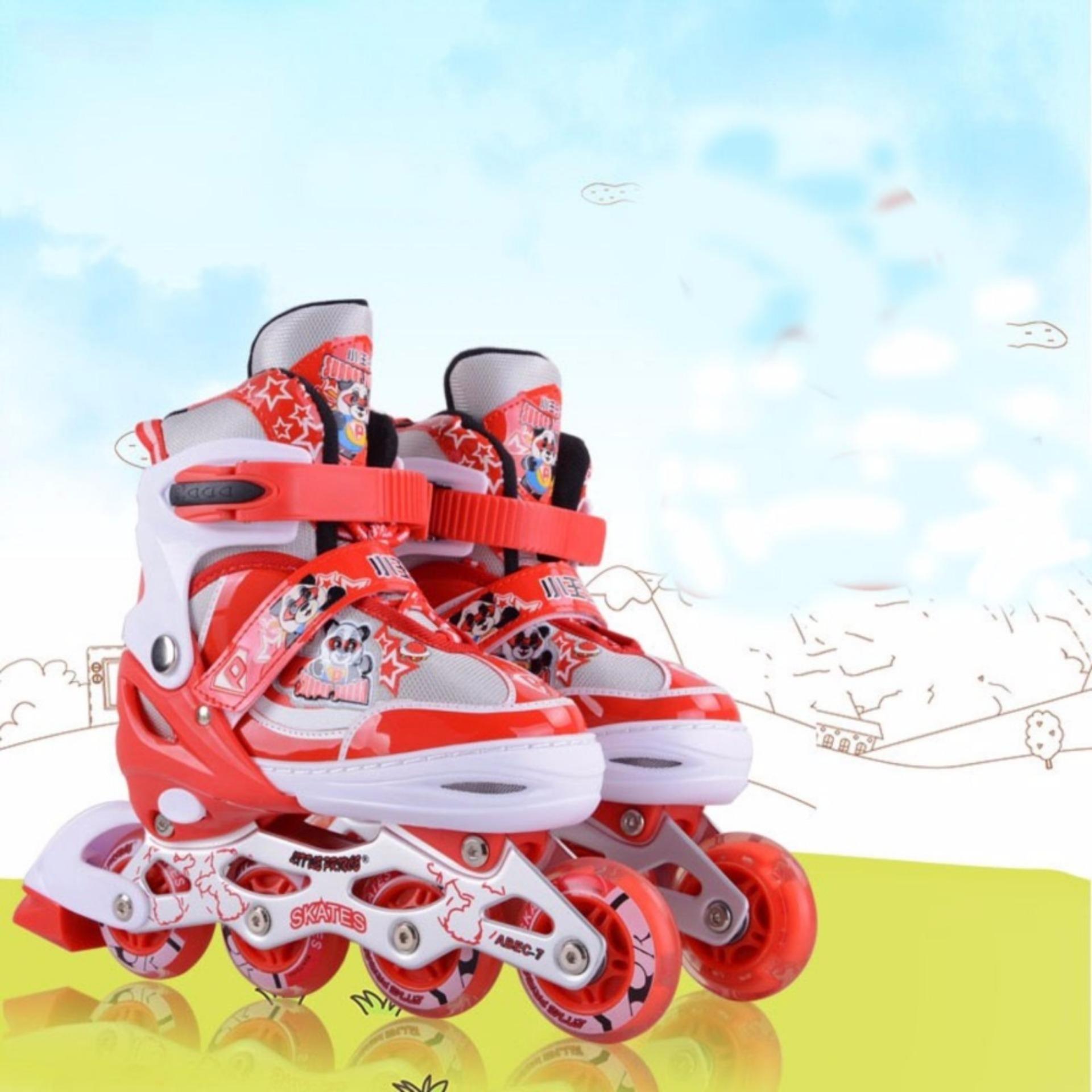 Giày trượt Patin trẻ em (màu xanh, màu hồng, màu đỏ cam)