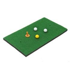 Thảm Tập Golf Huấn Luyện Đánh Vào Miếng Lót Thực Hành Cao Su Thun Giá Đỡ Cỏ Thảm Cơ Sở Xanh Lá và quả bóng-quốc tế