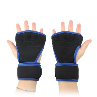 Gym Workout Training Cycling Wrist Fitness Gloves Weight LiftingWrap Strap - intl