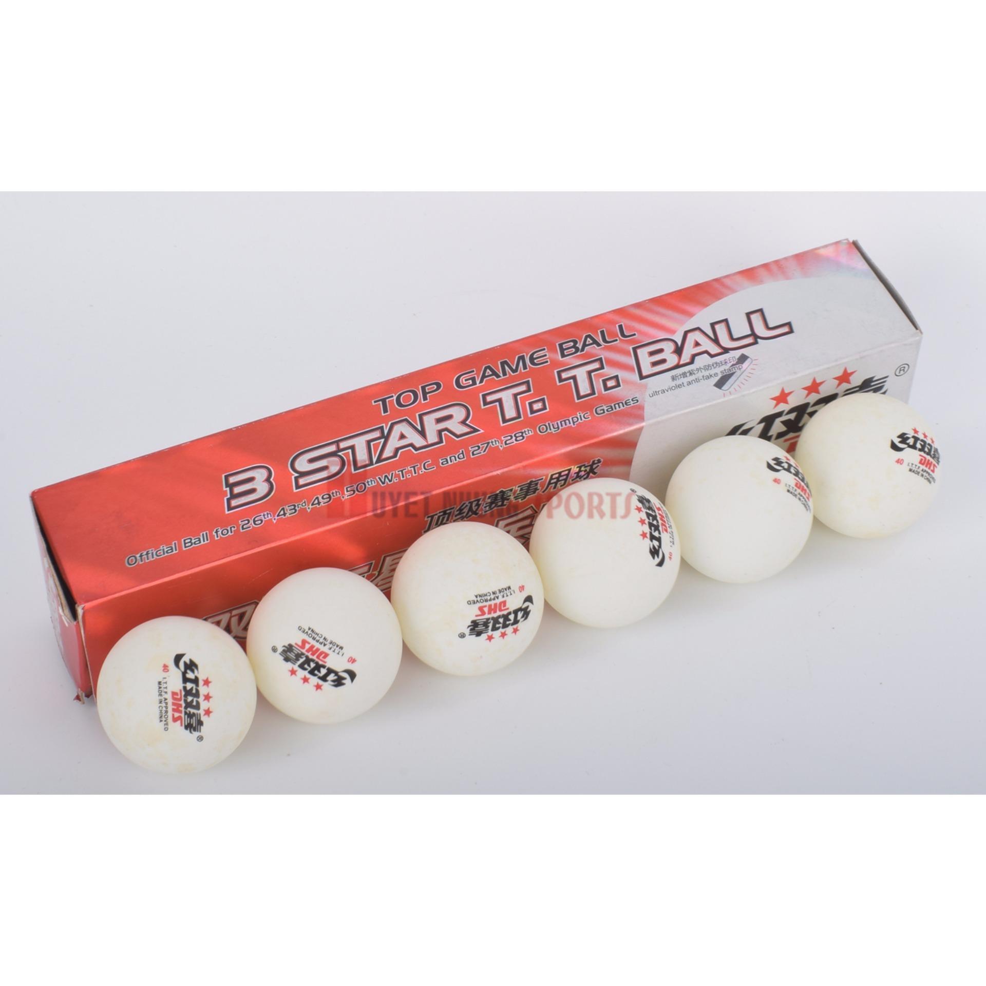 Chỗ nào bán Hộp bóng bàn 3 sao trắng (6q/h)