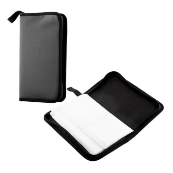 Hot 80 Disc CD VCD Storage Case Wallet Bag Hard Box Double sideBlack - intl