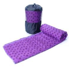 Khăn trải thảm tập Yoga với hạt PVC chống trơn GocgiadinhVN (Tím)