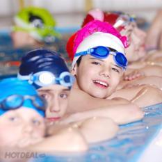 Kính bơi cho bé có nút chặn tai, kẹp mũi