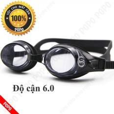 Kính bơi CẬN 6.0 độ thế hệ mới, mắt trong, chống UV, chống HẤP HƠI, kính bơi thời trang cao cấp + Quà Tặng của Shop LEPIN