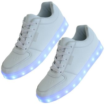 LED Light Lace Up Unisex Sportswear Casual Sneaker Luminous Shoes(35) - intl - 8817627 , VA466SPAA36JM6VNAMZ-5753298 , 224_VA466SPAA36JM6VNAMZ-5753298 , 730000 , LED-Light-Lace-Up-Unisex-Sportswear-Casual-Sneaker-Luminous-Shoes35-intl-224_VA466SPAA36JM6VNAMZ-5753298 , lazada.vn , LED Light Lace Up Unisex Sportswear Casual Sneak