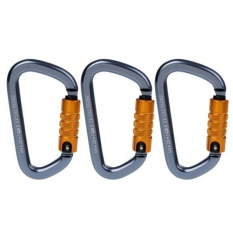 MagiDeal 3 Piece 28KN D-Ring Aluminum Carabiner Twist Locking Mountaineering Climbing – intl