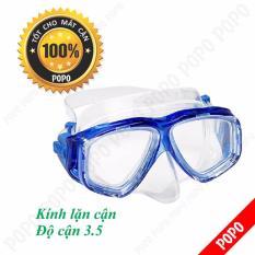 Mặt nạ lặn CẬN 3.5 độ, mắt kính CƯỜNG LỰC LEPIN Sports