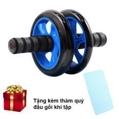 Máy tập cơ bụng 2 bánh AB (Màu Jewelry Blue) + Thảm quỳ đầu gối