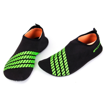 Men Women Surf Beach Water Sport Socks Shoes(Green) - intl