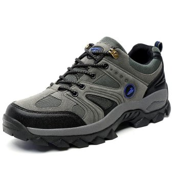 Men's All-Match Outdoor Anti-skid Wear-resistant Hiking Shoes -intl