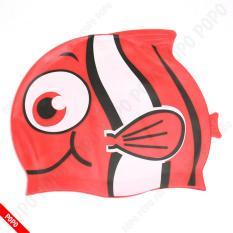 Mũ bơi trẻ em hình cá ngộ nghĩnh chất liệu an toàn mang đếm cảm giác mềm mại khi đội cho bé + Quà Tặng của Shop LEPIN