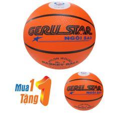 Mua 1 quả tặng 1 quả bóng rổ Gerustar cam số 7