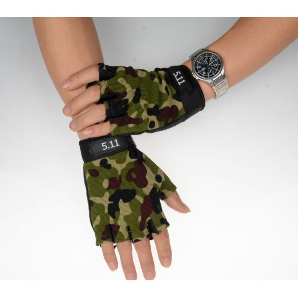 Găng tay hở ngón thể thao( rằn ri )