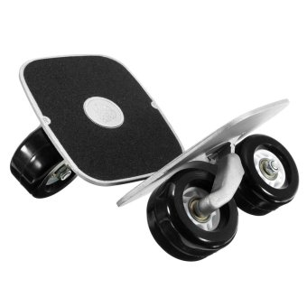 New Portable Cruiser Freeline Metal Drift Board Skate Wheels Matte Skateboard - intl