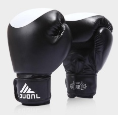 New PU Fight MMA Boxing Gloves Practice Training Muay Thai Sanda Punching Bag (Black) – intl