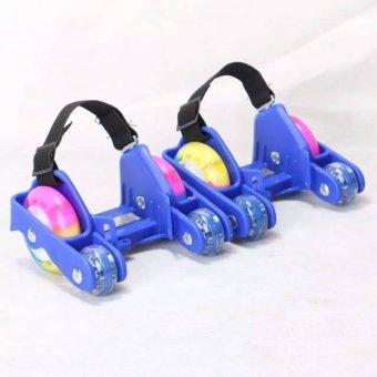 Newly Colorful PU 4 Wheel Flashing Roller Skates(Pink) - intl