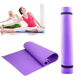 Non Slip Soft Resilient Natural Fitness EVA Yoga Mat Exercise 4MMLose Weight - intl