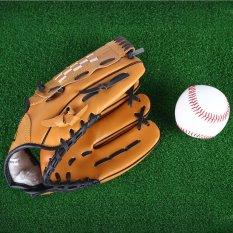 Outdoor Sports Brown Practice Left Hand Softball Equipment Baseball Glove (10.5) – intl
