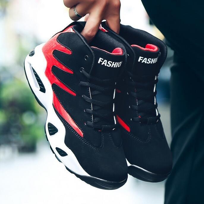 Giày bóng rổ with đệm không khí-Đỏ-quốc tế