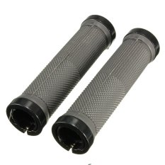 Pair Cycling Lock-on locking Handle Grips For Bicycle MTB BMX Bike Handlebar Gray