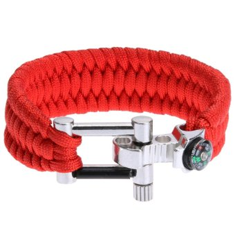 Paracord Outdoor Survival Bracelet U Shackle Adjustable Bucklebracelet - intl