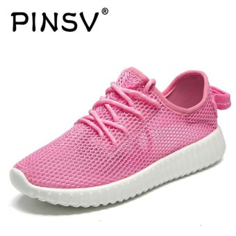 PINSV Mesh Women Breathable Casual Running Shoes (Pink) - intl