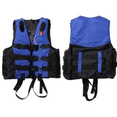 Polyester Adult Life Jacket Universal Swimming Boating(Blue S) – intl