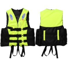 Polyester Adult Water Entertainment Rafting Life Jackets + Whistle for Universal Swimming Boating (Yellow) – intl