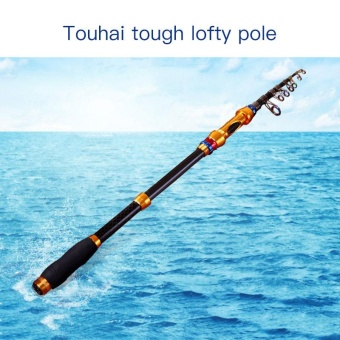 Portable Carbon Telescopic Fishing Rod Poles Travel1.8/2.1/2.4/2.7/3.0M - intl