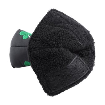 PU Golf Putter Cover Four Leaf Clover Headcover Accessory (black) -intl
