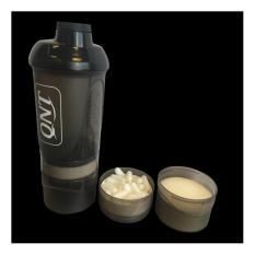Bình lắc thể thao có ngăn QNT Shaker BEP and DEHP free 950 ml (Đen)