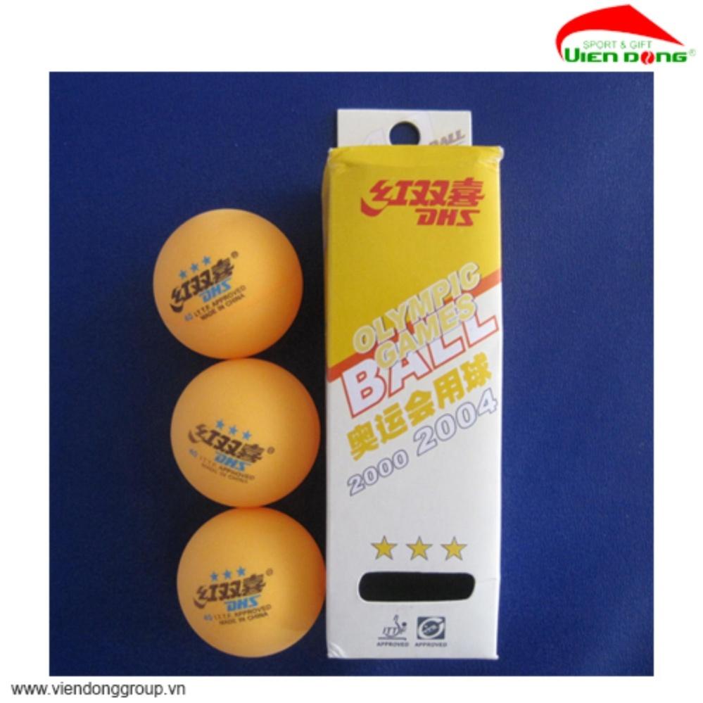 Quả bóng bàn DHS 3 sao vàng hộp 3q 222 GC-0001