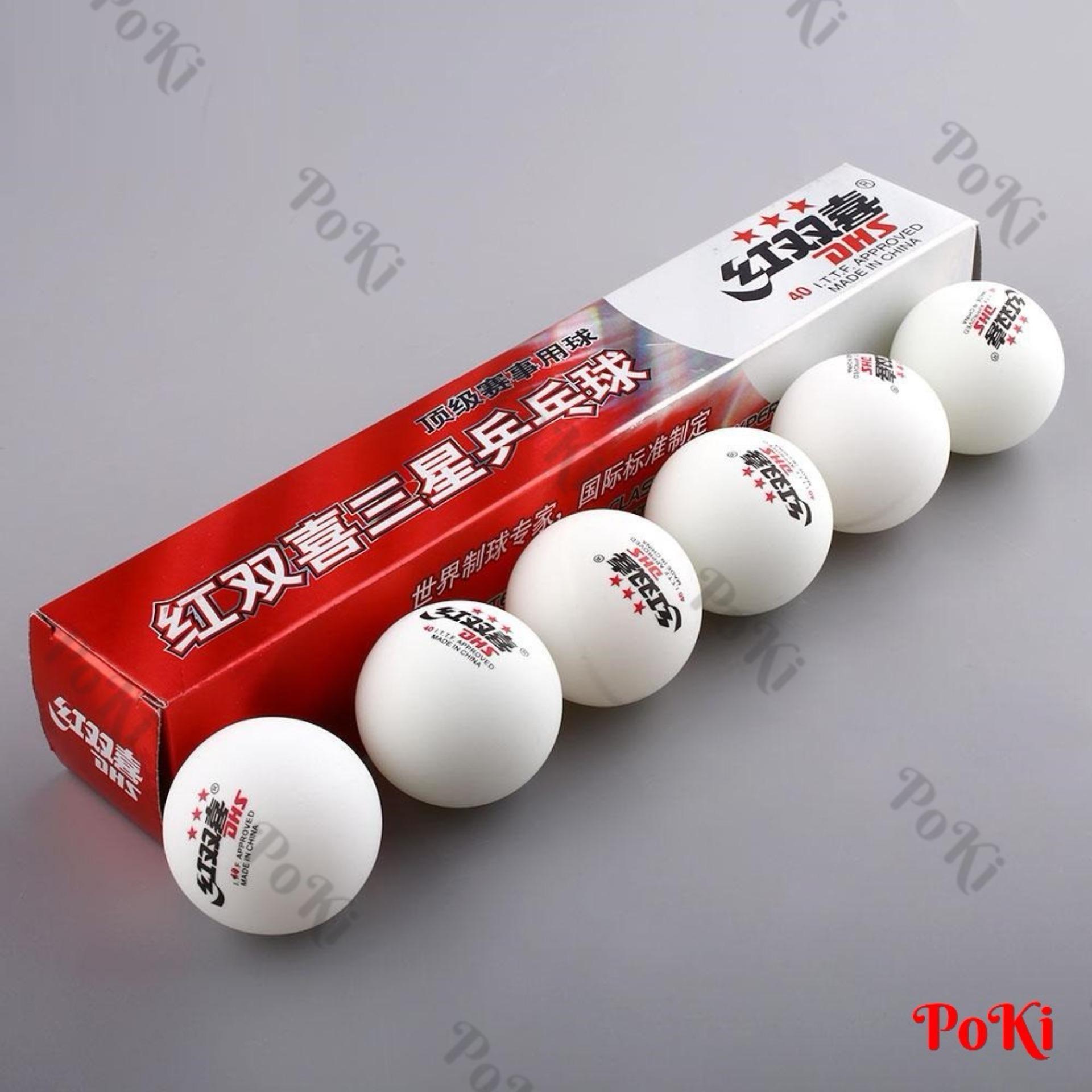 Vì sao mua Quả bóng bàn DHS, Hộp dài 6 quả; 3 sao 40 TRẮNG; chất liệu cao cấp
