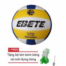 Quả bóng chuyền Động Lực Ebete DL 240M3 + Tặng bộ kim bơm bóng và lưới đựng bóng