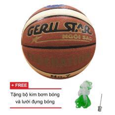 Quả bóng rổ da Gerustar Federation số 7 + kim bơm bóng, lưới đựng bóng
