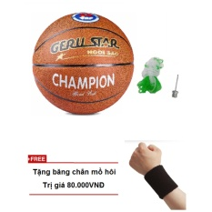 Quả bóng rổ da Gerustar số 7 + Tặng băng chắn mồ hôi tay