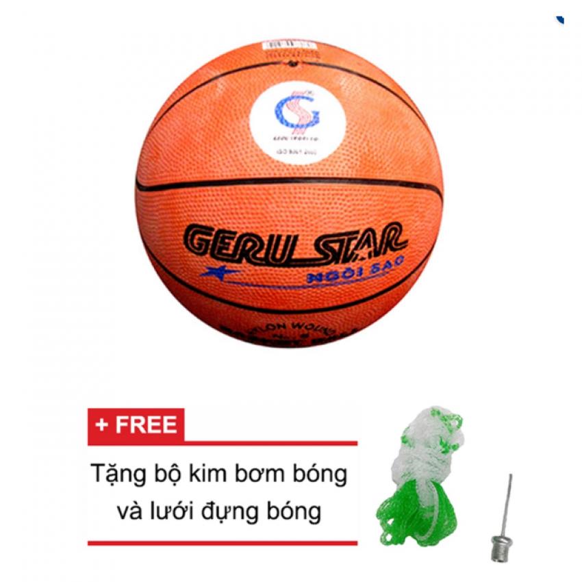 Vì sao mua Quả bóng rổ Gerustar số 5 cao su (Cam) và Tặng kim bơm bóng và lưới đựng bóng