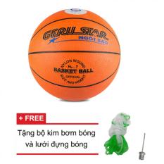 Quả bóng rổ số 7 Gerustar (Cam) và Tặng kim bơm bóng và lưới đựng bóng