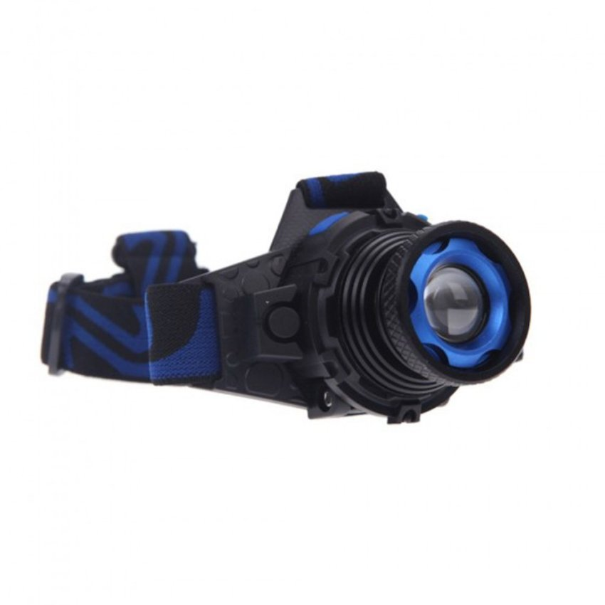 Rechargeable 3 Modes Zoomable Headlight(Blue) - intl