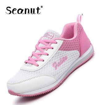 Seanut Woman Fashion Mesh Breathable Sprots Shoes Running Shoes(White) - intl