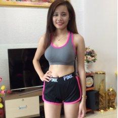 Short pink đen hồng